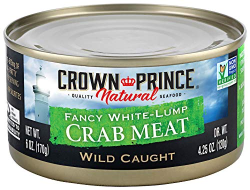 - Crown Prince Natural Fancy White-Lump Crab Meat, 6-Ounce Cans (Pack of 2)