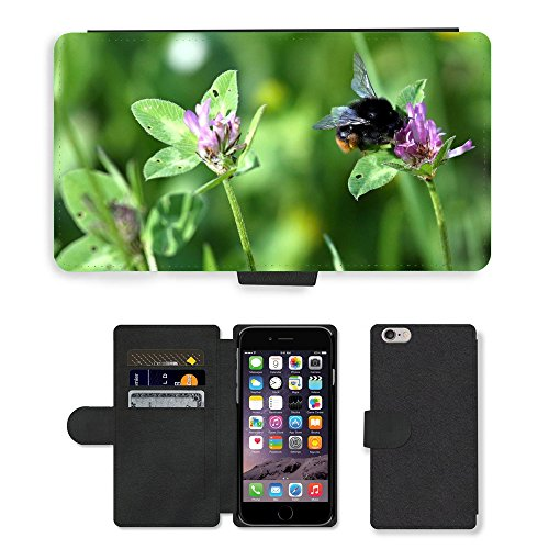 """Just Phone Cases PU Leather Flip Custodia Protettiva Case Cover per // M00128850 Bumble Bee Bumblebee insectes Bug // Apple iPhone 6 PLUS 5.5"""""""
