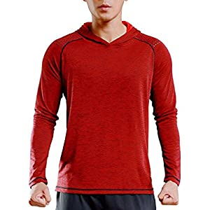 TBMPOY Men's Hoodies Pullover Long Sleeve Active Gym Casual Workout Sweatshirts