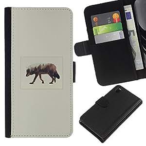 YiPhone /// Tirón de la caja Cartera de cuero con ranuras para tarjetas - Elk Arte - Sony Xperia Z3 D6603
