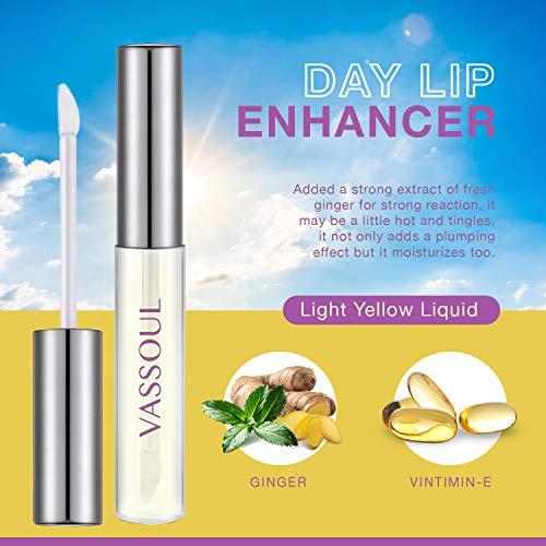 VASSOUL Lip Plumper Set, Nature Lip Gloss and Lip Care Serum, Dual Functions of Moisturizing and Plumping Lips, Beautiful Fuller, Hydrating & Reduce Fine Lines