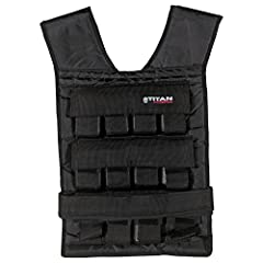 Whether you are walking, running, doing body weight exercises, lifting weights, riding a bike, or simply doing chores around the house, the weight vest from Titan Fitness will add another level to your work out. You will burn more calories, b...