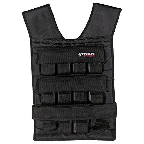 Titan Adjustable Weighted Vest 50 LB - 50 Lb Weight Vest