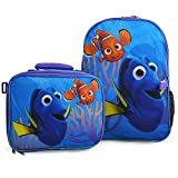 Disney Finding Dory 16 Backpack + Insulated Lunch Bag Official Licensed by Disney