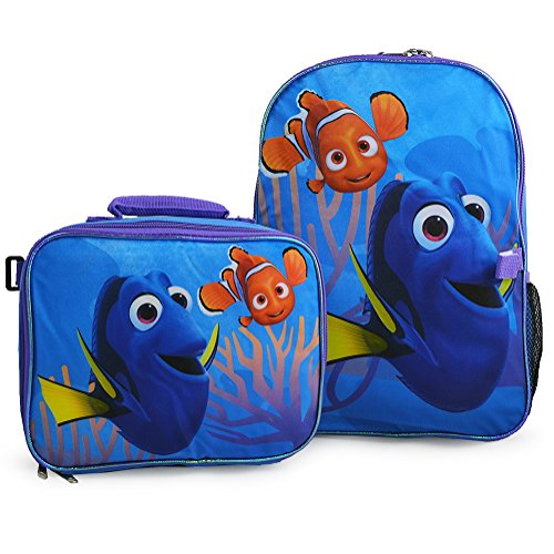 """Disney Finding Dory 16"""" Backpack + Insulated Lunch Bag Of..."""