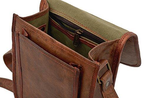 81stgeneration der Frauen der Männer des echten Kleinleder Vertikal Messenger Stil Handtasche