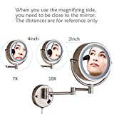 Cavoli Wall Mounted Makeup Mirror with LED