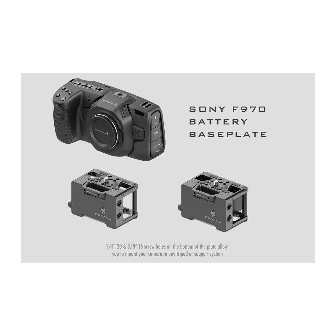TILTA TA-BSP-F970 F970 Battery Baseplate For BMPCC 4K Cage Blackmagic Pocket Cinema Camera 4K Rig F970 Battery Baseplate