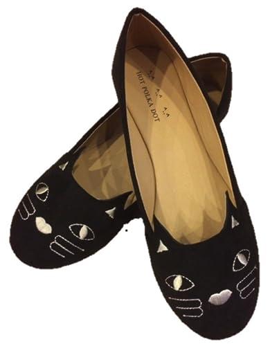 Women's Suede Classy Cat Shoes Ballet Flats US 5