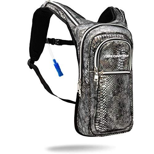 Vibedration Festival Hydration Pack | 2L Water Capacity | Rave Hydration, Festival Fashion, Hiking & Camping (Black Diamond)