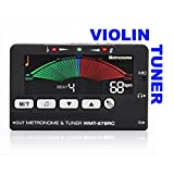 Violin Tuner and Metronome (2in1) - Accurately Tune String and Wind Instruments - Perfect Time Signatures - Portable Design Let's You Tune and Practice Anywhere