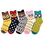 Deer Mum Lady Cute Owl Design Casual Socks ONE SIZE