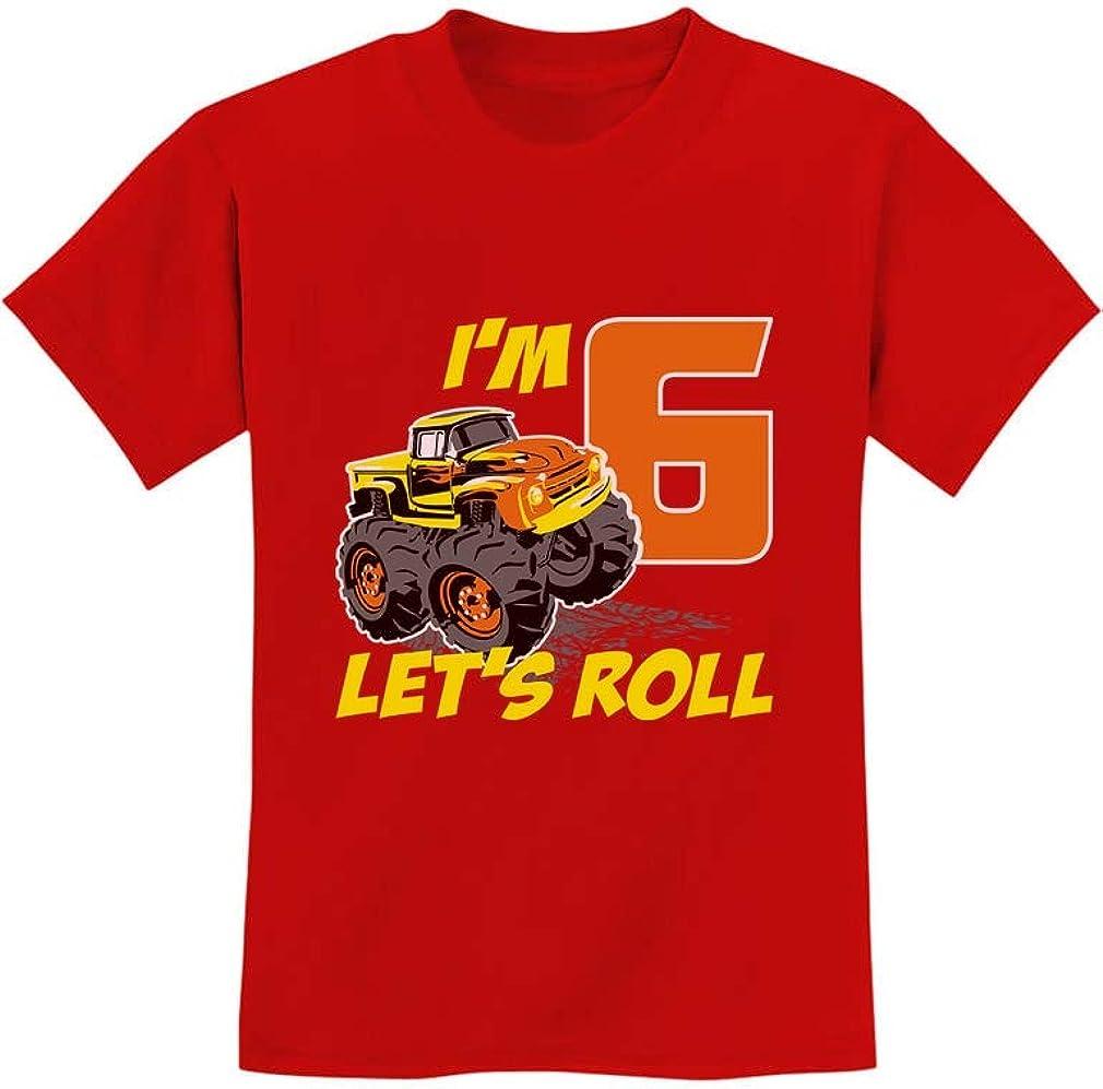 Birthday Gift for 6 Year Old Boy Truck 6th Birthday Boys Youth Kids T-Shirt