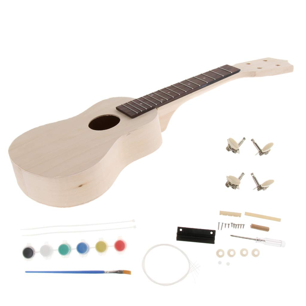 FLAMEER - Ukelele de 21 pulgadas con 4 cuerdas para guitarra, kit ...