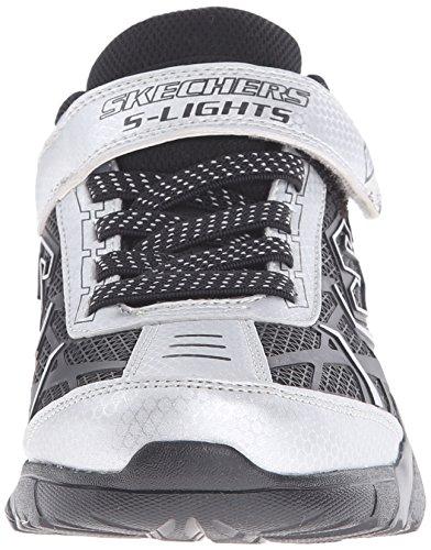 Skechers Broozer - zapatilla deportiva de material sintético niños Plata - Silber (SLBK)