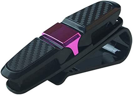HQWLCIYD Estuche para lápices Estuche para lentes Portátil Auto Sujetador Cip Auto Anteojos Clip Boleto Abrazadera Estuches para auto Car Negro Visera para el sol Gafas de sol Titular, Rosa Roja: Amazon.es: