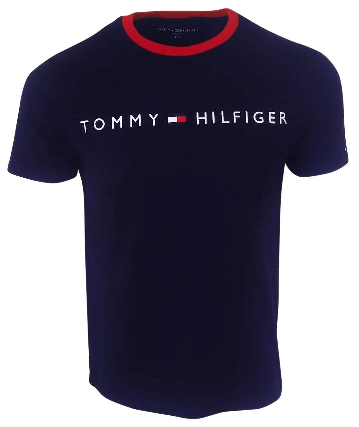 Tommy Hilfiger Men's New Line Crewneck T-Shirt (Small, Navy)