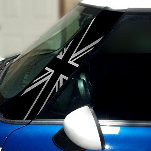 ブラックジャックピラービニールデカールfor 1st Gen Mini Cooper – 2のセット – Chooseカラー シルバー D066-56  シルバー B0773YDXRX
