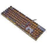 LexonElec® Wired Gaming Keyboard K100 104 Keys LED Backlit PUNK Keycap 26 Keys