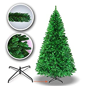 BenefitUSA 7' Green Classic Pine Christmas Tree Artificial Realistic Natural Branches-Unlit 210CM 1000 Tips with Metal Stand 6