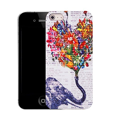Mobile Case Mate IPhone 5S clip on Silicone Coque couverture case cover Pare-chocs + STYLET - elephant love pattern (SILICON)