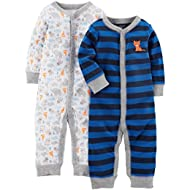 [Sponsored]Baby Boys' 2-Pack Cotton Footless Sleep and Play