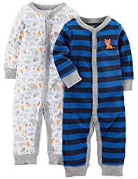 Simple Joys by Carter's Baby-Boys Baby 2-Pack Cotton Footless Sleep Play