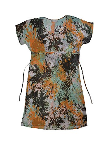 Anna Printed Silk Dress (Anna Club by La Perla Abstract Coverup Dress 50/14)