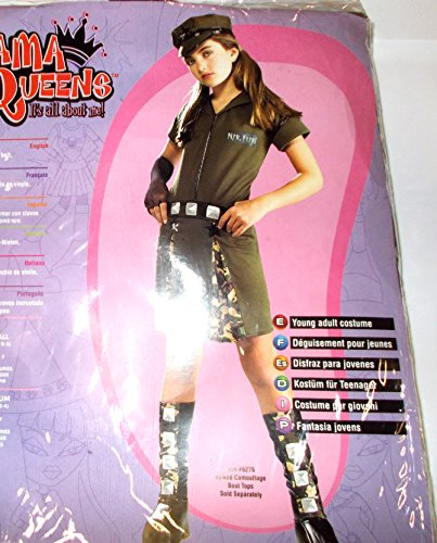 Rubie's Dlx Major Flirt Army Glamour Diva Costume Dress-up Girls NWT 0-2 Tw -