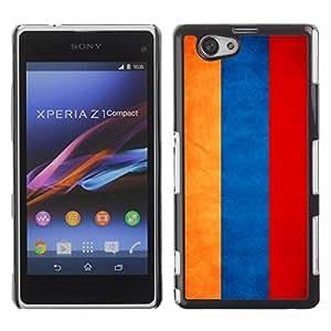 Caucho caso de Shell duro de la cubierta de accesorios de protección BY RAYDREAMMM - Sony Xperia Z1 Compact D5503 - Armenia Grunge Flag