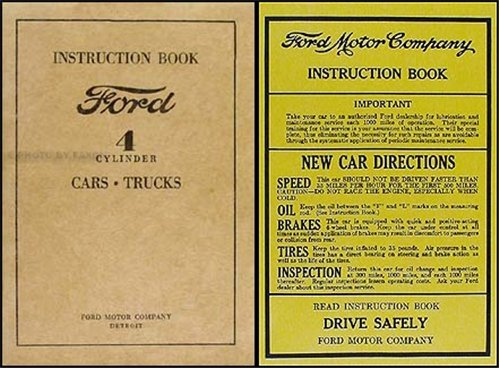 1932-1934 Ford 4-Cylinder Car & Pickup Owner's Manual Reprint