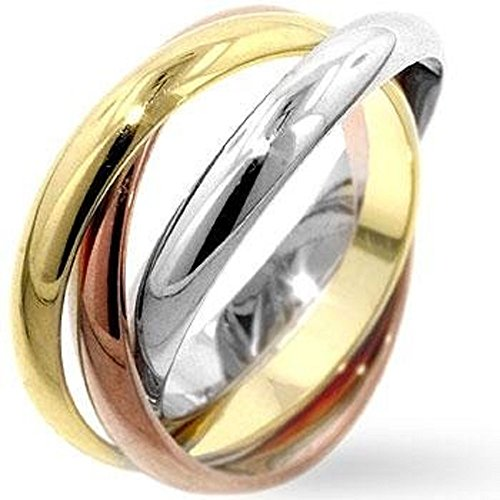 WildKlass Mixed Triple Ring Set - 18k Gold Electroplated Mens Ring