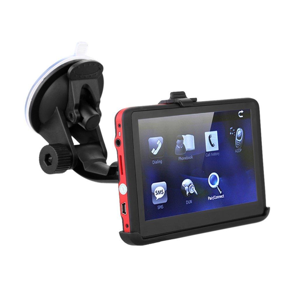 KKmoon 5 'HD Touchscreen Auto GPS Navigationsgerä t Free Lifetime Maps 128MB RAM 4GB FM Radio