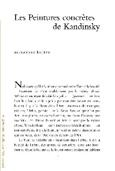 Les peintures concrètes de Kandinsky