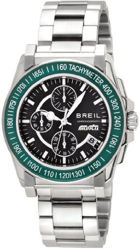 exquisite design cost charm official images Breil Men's Quartz Watch with Black Dial Chronograph Display ...