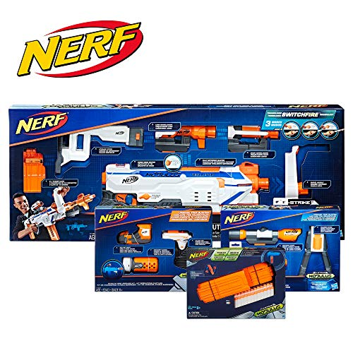 NERF Modulus Regulator Blaster & Upgrade Kits Bundle Deal 2019 -- Dart-Firing Blaster, Customizing Accessories, Darts (Amazon Exclusive)