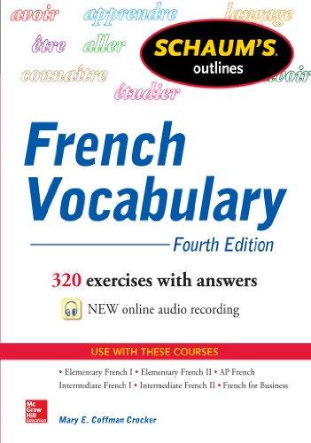 Schaum's Outline of French Vocabulary (Schaum's Outlines)
