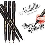 Hand Lettering Pens, Calligraphy Pen Brush Markers Set, Refillable, for Beginners Writing,...