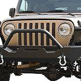 03 wrangler tj grille inserts - E-Autogrilles Billet Front Grille Vertical Overlay for 97-06 Jeep Wrangle TJ