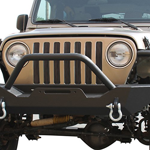 Billet Cover Inserts (E-Autogrilles Billet Front Grille Vertical Overlay for 97-06 Jeep Wrangle TJ)