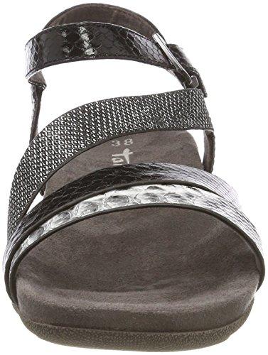 Tamaris Donna alla Black Sandali Comb Nero Caviglia con 28604 Cinturino rYSwUrT