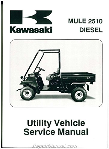99924-1251-03 2000-2002 Kawasaki Mule 2510 Diesel KAF950 Mule Side by Side Service - Manual 2510