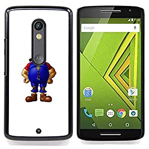 - Bearded Man - - Cubierta del caso de impacto con el patr??n Art Designs FOR Motorola Verizon DROID MAXX 2 / Moto X Play Queen Pattern