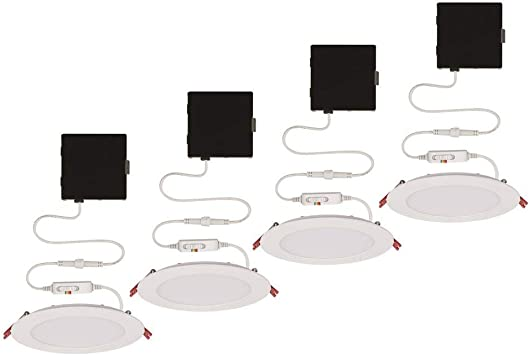 Ultra Slim 6 In Color Selectable New Construction And Remodel Canless Recessed Integrated Led Kit 4 Pack