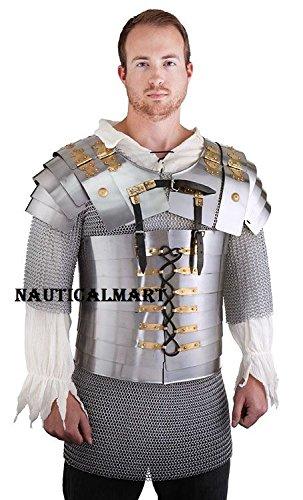 - NAUTICALMART Medieval Roman Soldier Lorica Segmentata Body Armor