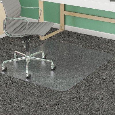 Mat Beveled Supermat Studded (deflect-o SuperMat Studded Beveled Mat for Medium Pile Carpet, 46w x 60h, Clear)