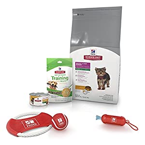 Hill's Science Diet Puppy Food Bundle, Small & Toy Breed Puppy Bundle with Puppy Treats and Toys