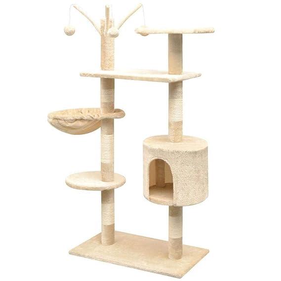 Árbol Rascador para Gatos Árbol de gato de 125 cm con postes de ...