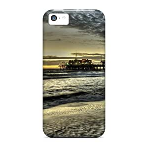 Iphone Covers Cases - Santa Monica Pier At Dusk Protective Cases Compatibel With Iphone 5c