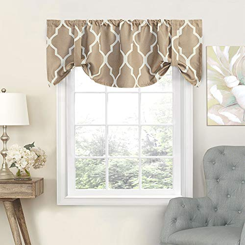 jinchan Tie Up Valance Moroccan Tile Print Curtain for sale  Delivered anywhere in USA